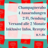 Champagner Abo 4 shipments with two bottles each