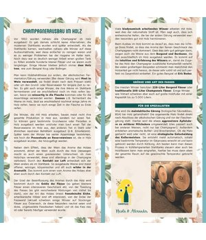 "Infokarte ""Champagner Ausbau in Holz"""