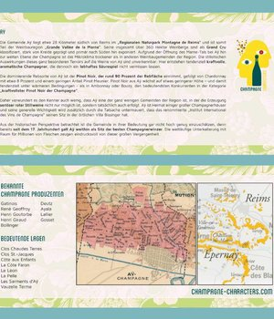 Regionskarte  zum Champagne Ort Aÿ