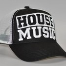 """Cap """"HOUSE MUSIC"""" 3D embroidery (black)'"""