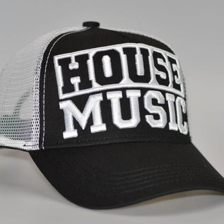 "Cap ""HOUSE MUSIC"" 3D borduring (black)'"