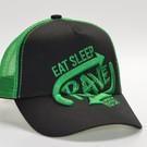 "Cap ''Eat Sleep Rave Repeat"" 3D BORDURING (Green)"