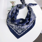Silk bandana blue