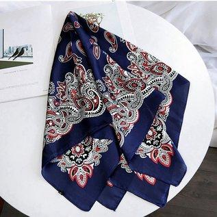 Silk bandana blue/red