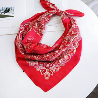 Silk bandana pink