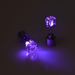 LED oorbel paars