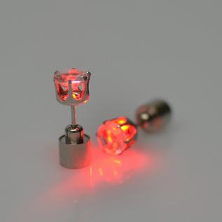 LED earring red