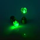 LED earring green