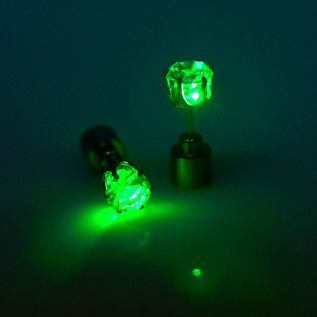 LED earring green