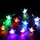 LED earring star multi