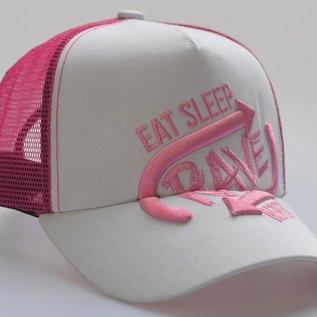 "Cap ''Eat Sleep Rave Repeat"" 3D BORDURING (Pink)"