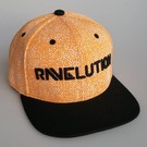 "DanceCaps.com Glow in the dark snapback ""Ravelution"" (orange)"