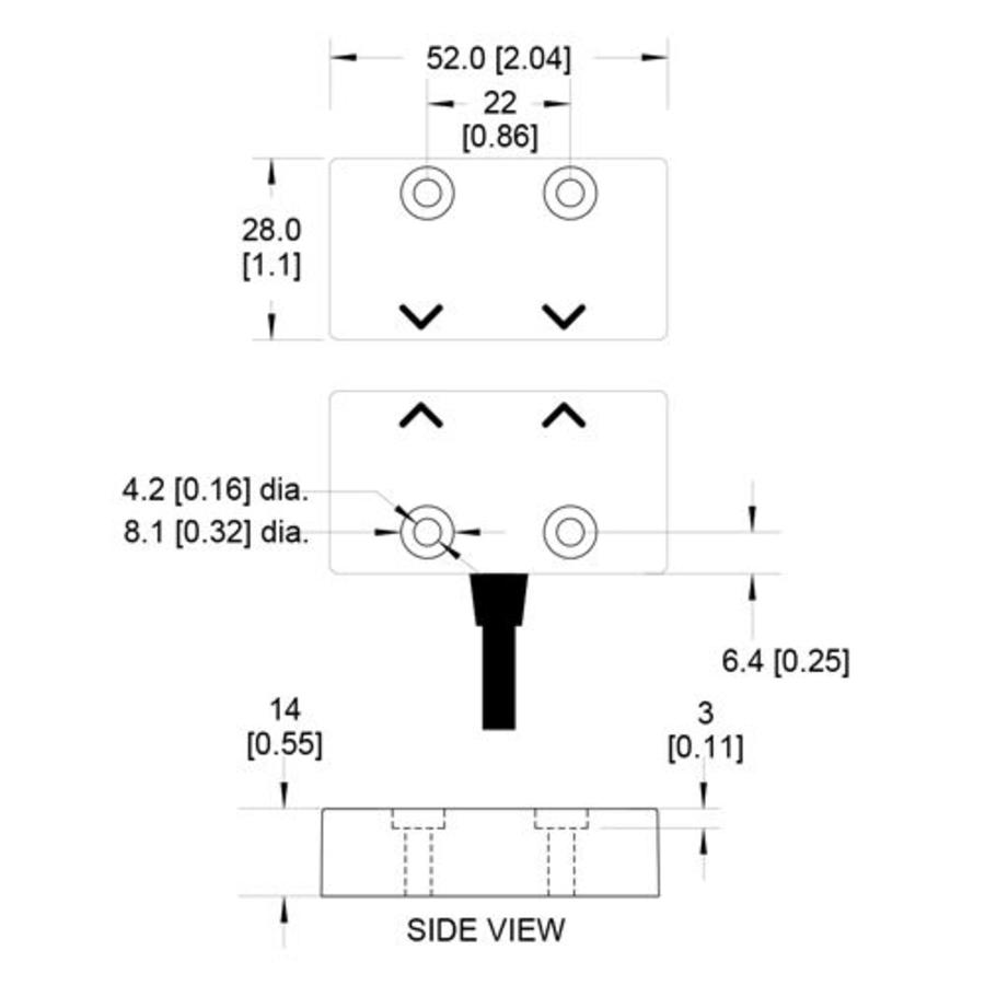 Non-contact magnetic safety switch MS4