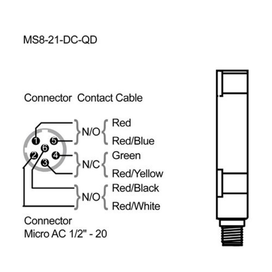 Berührungslose magnetische Sicherheitsschalter MS8-SS