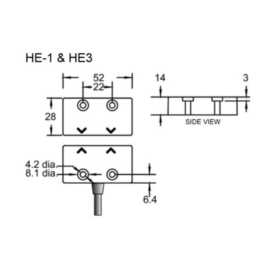 Berührungslose magnetisch codierte Sicherheitsschalter HE1