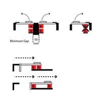 Magnetisch gecodeerde contactloze veiligheidsschakelaar HE2-SS