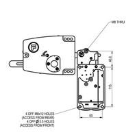 Sehr robuster Sicherheitsschalter mit Zuhatlung aus Metall mit Türgriff PLe