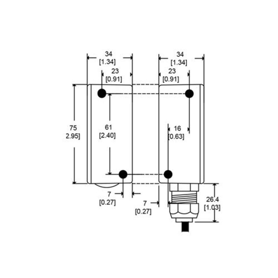 Electronische uniek gecodeerde contactloze veiligheidssensor CMA