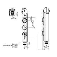 Tongbediende aluminium veiligheidsschakelaar met vergrendeling en persoonlijke veiligheidssleutel PLd