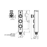 Aluminium Taster-Unit mit 2 Bedienelementen und Not-Aus
