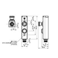 Aluminium Taster-Unit mit 1 Bedienelement und Not-Aus