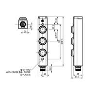 Aluminium Taster-Unit mit 3 Bedienelementen