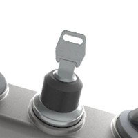 Aluminium Taster-Unit mit 4 Bedienelementen