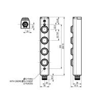 Aluminium behuizing met 4 machinefuncties