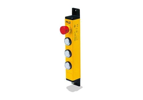 Bedieneinheit in Metallgehäuse mit 3 Drucktastern  und Not-Aus PIT gb LLLE
