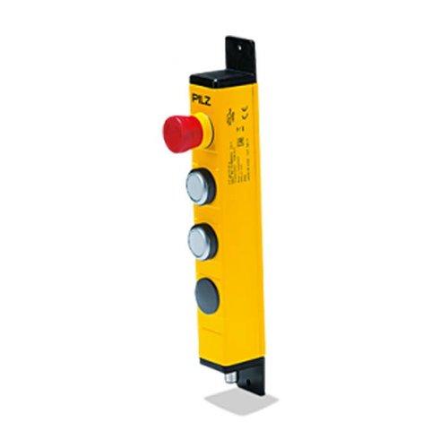 Bedieneinheit in Metallgehäuse mit 2 Drucktastern  und Not-Aus PIT gb CLLE y