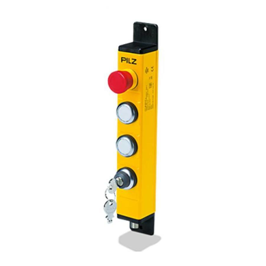 Metall Taster-Unit mit 2 Drucktastern, Not-Aus und Schlüsselschalter