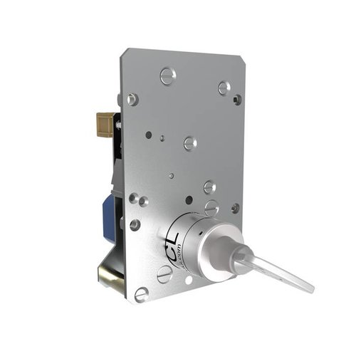 Solenoid controlled safety key switch SS1