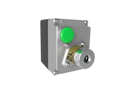 Solenoid controleld safety key switch in enclosure MSSR