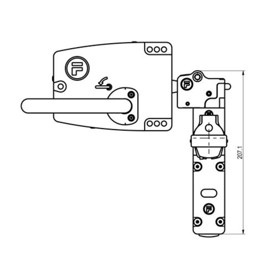 Sehr robuster Sicherheitsschalter aus Metall mit Türgriffbetätiger und Sicherheitsschlüssel (obligatorischen ausnahme) PLe