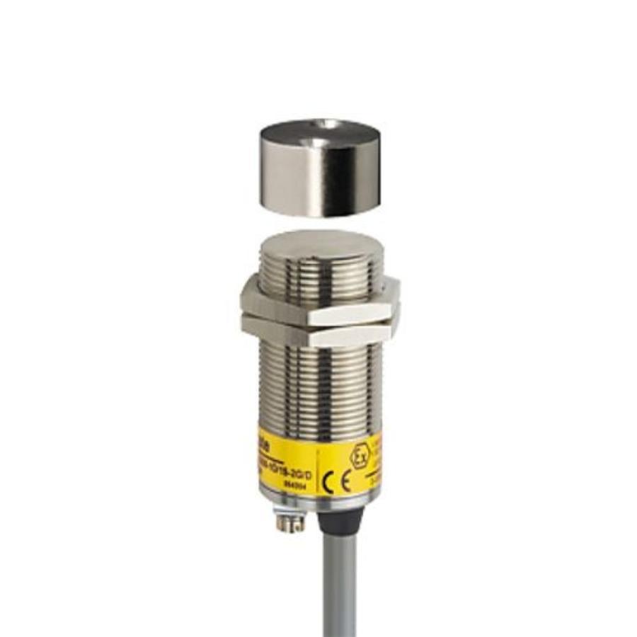 Magnetisch gecodeerde contactloze cilindrische (M30) veiligheidssensor Ex