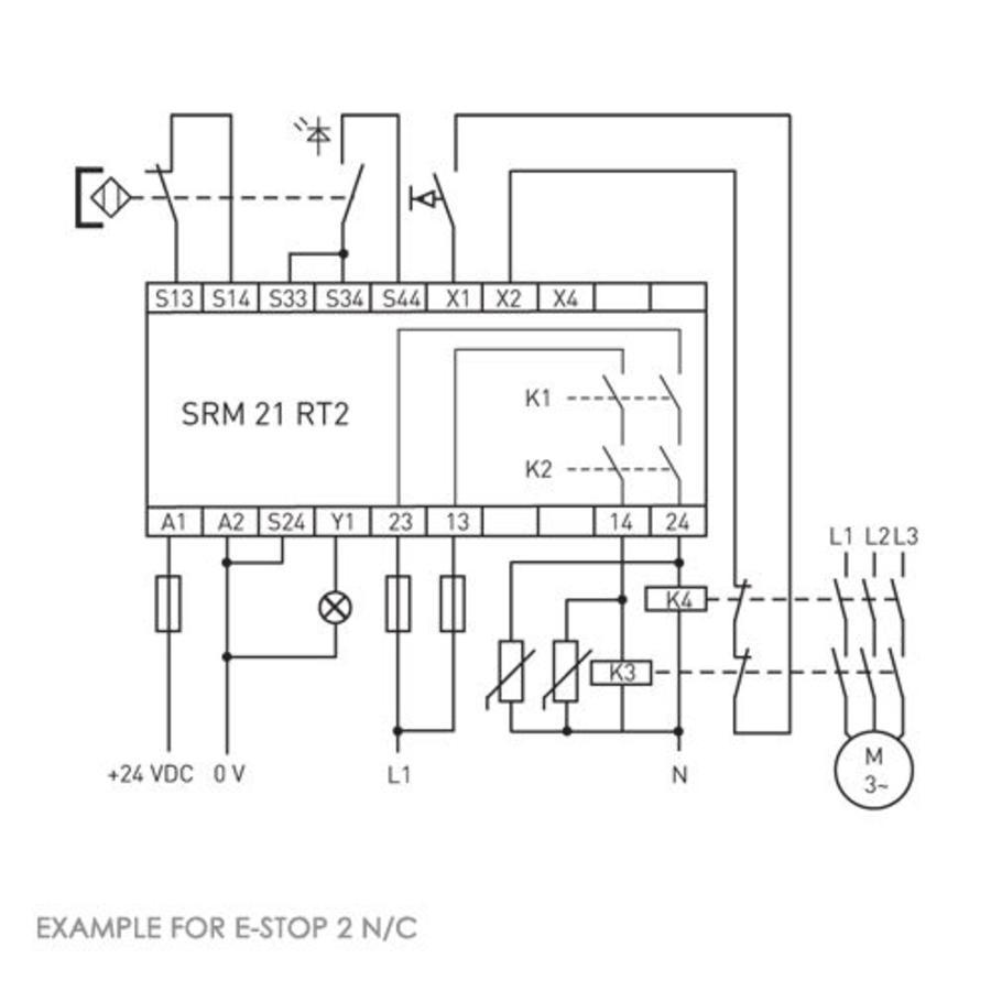 Safety relais module SRM 21 RT2