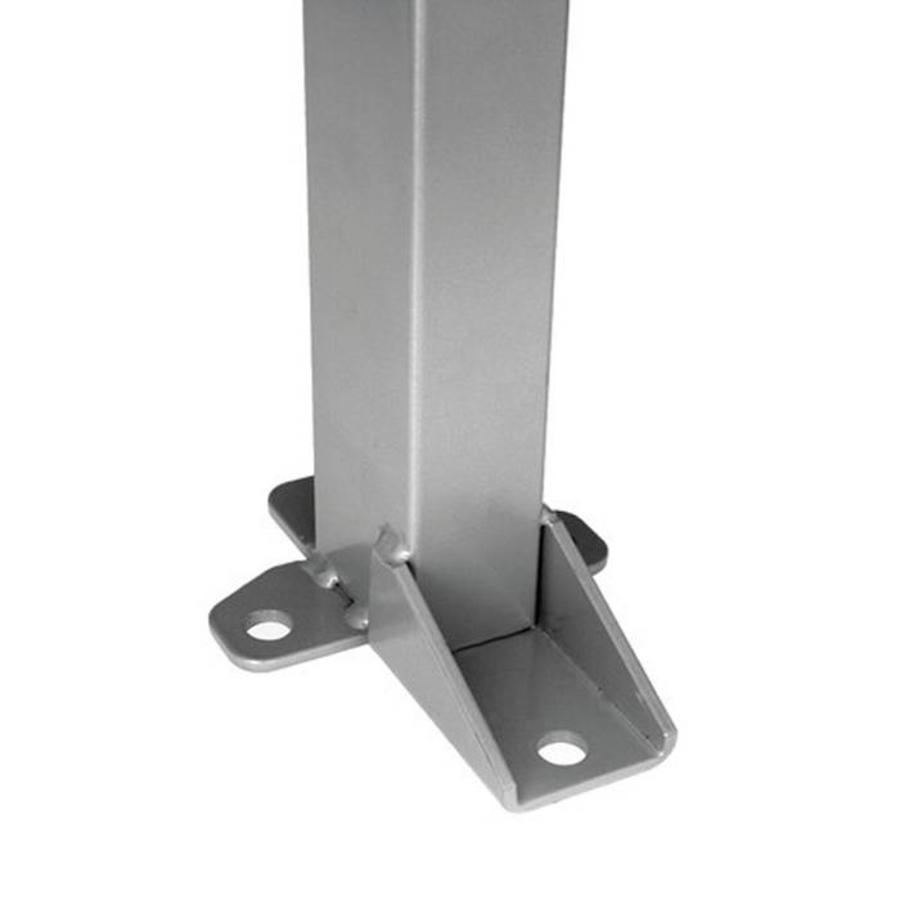 Coated post 60 x 40 x 1400mm in grey (RAL 7037)
