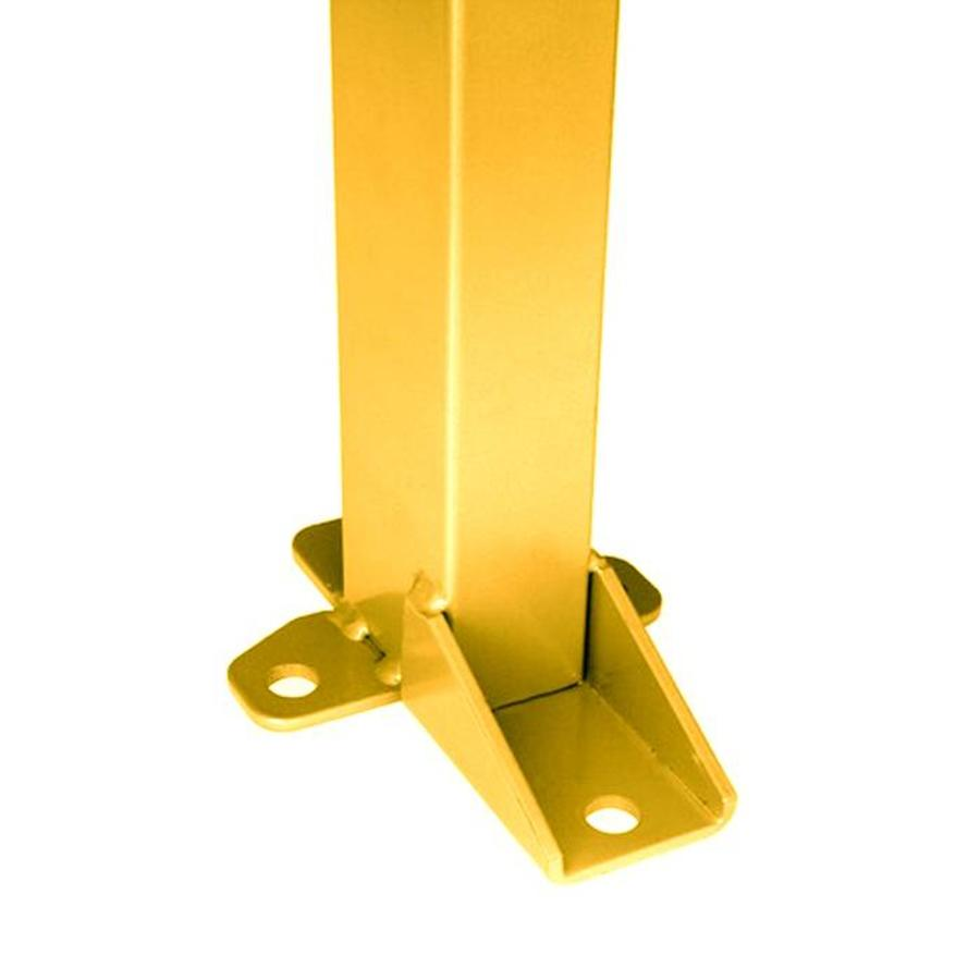 Coated post 60 x 40 x 1400mm in yellow (RAL 1018)