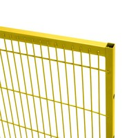 ST20 coated mesh panel 1400mm height in yellow (RAL 1018)