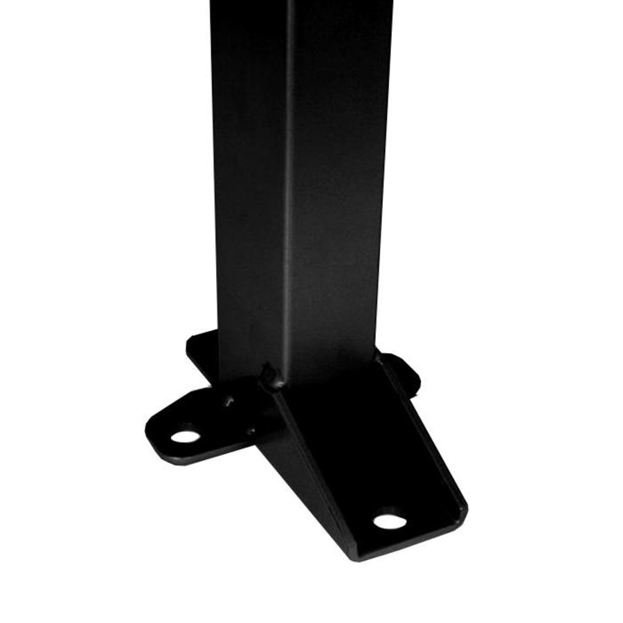 Coated post 60 x 40 x 2200mm in black (RAL 9005)