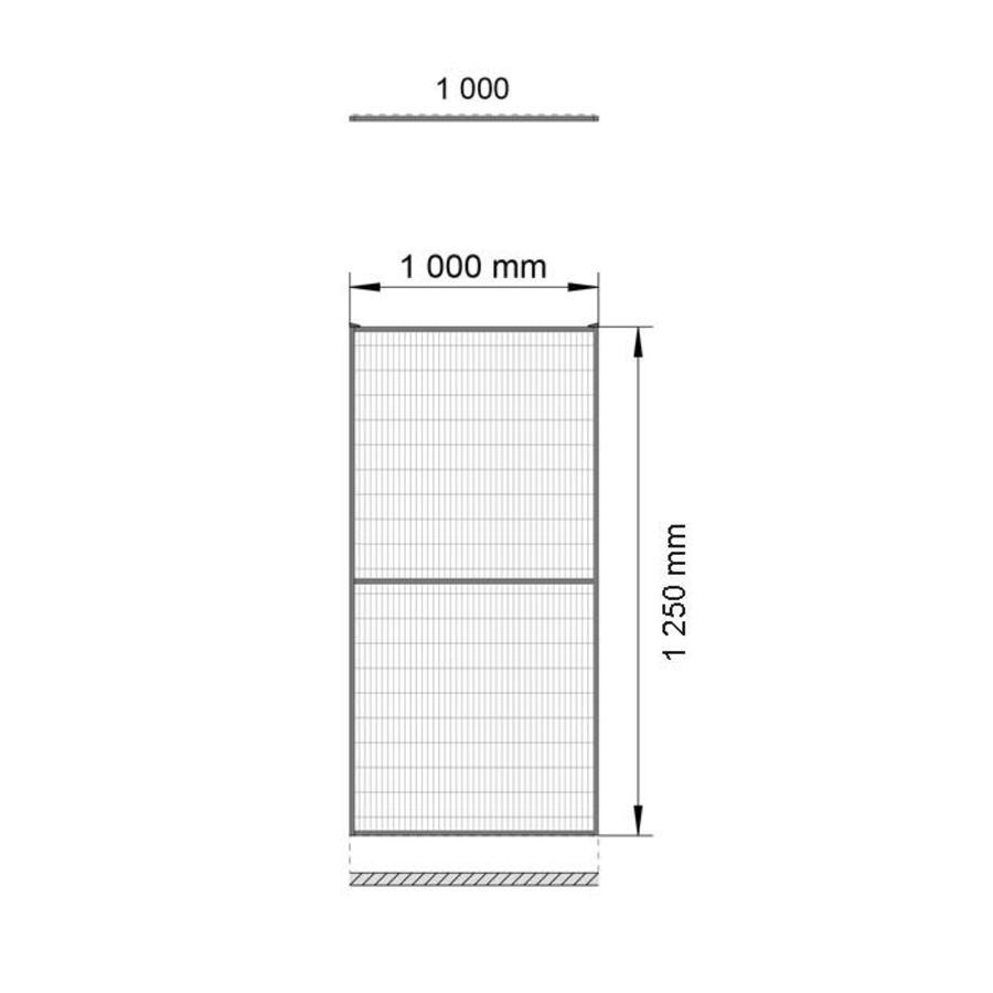 ST20 beschichteter Gitterelement  1400mm Höhe in gelb (RAL 1018)