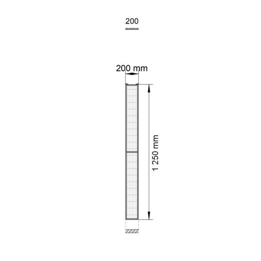 ST20 beschichteter Gitterelement  1400mm Höhe in schwarz (RAL 9005)