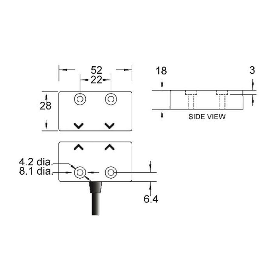 Contactloze veiligheidssensor RFID uniek gecodeerd RDNK