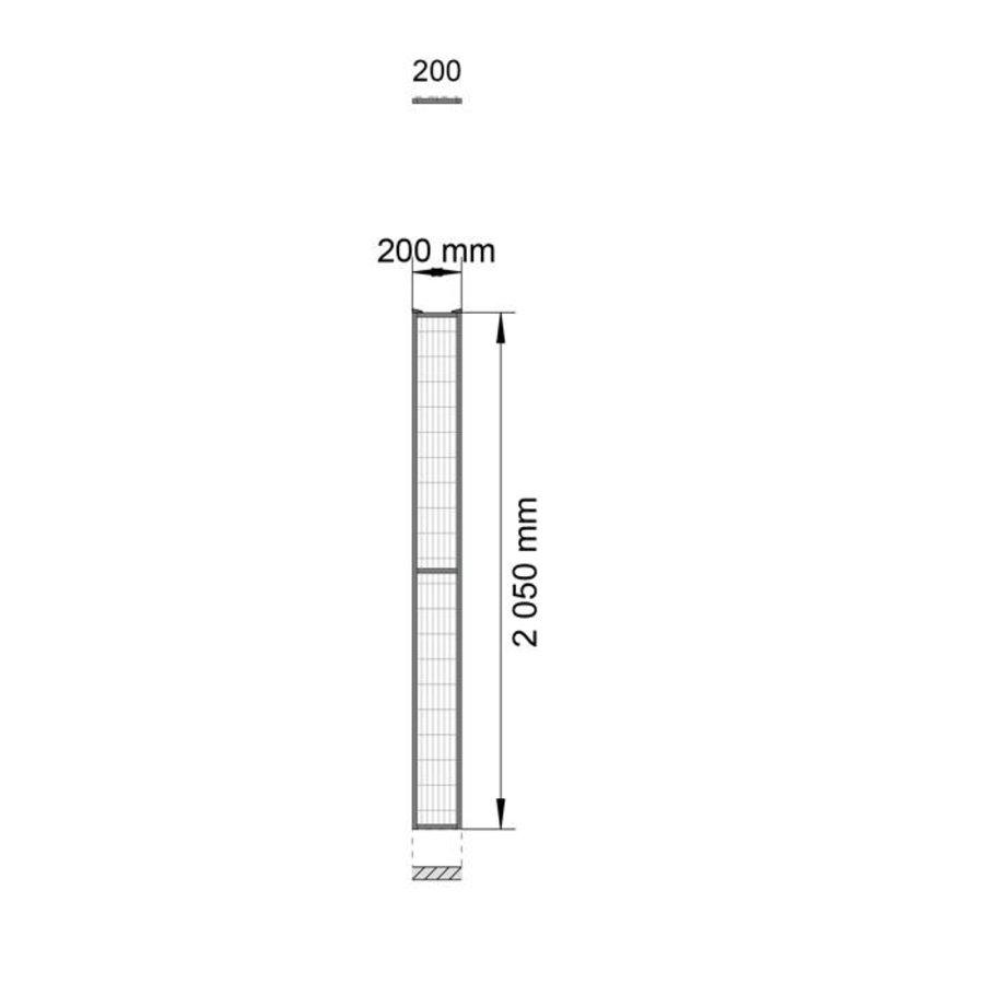 ST20 gecoat gaaspaneel 2200mm hoog in zwart (RAL 9005)