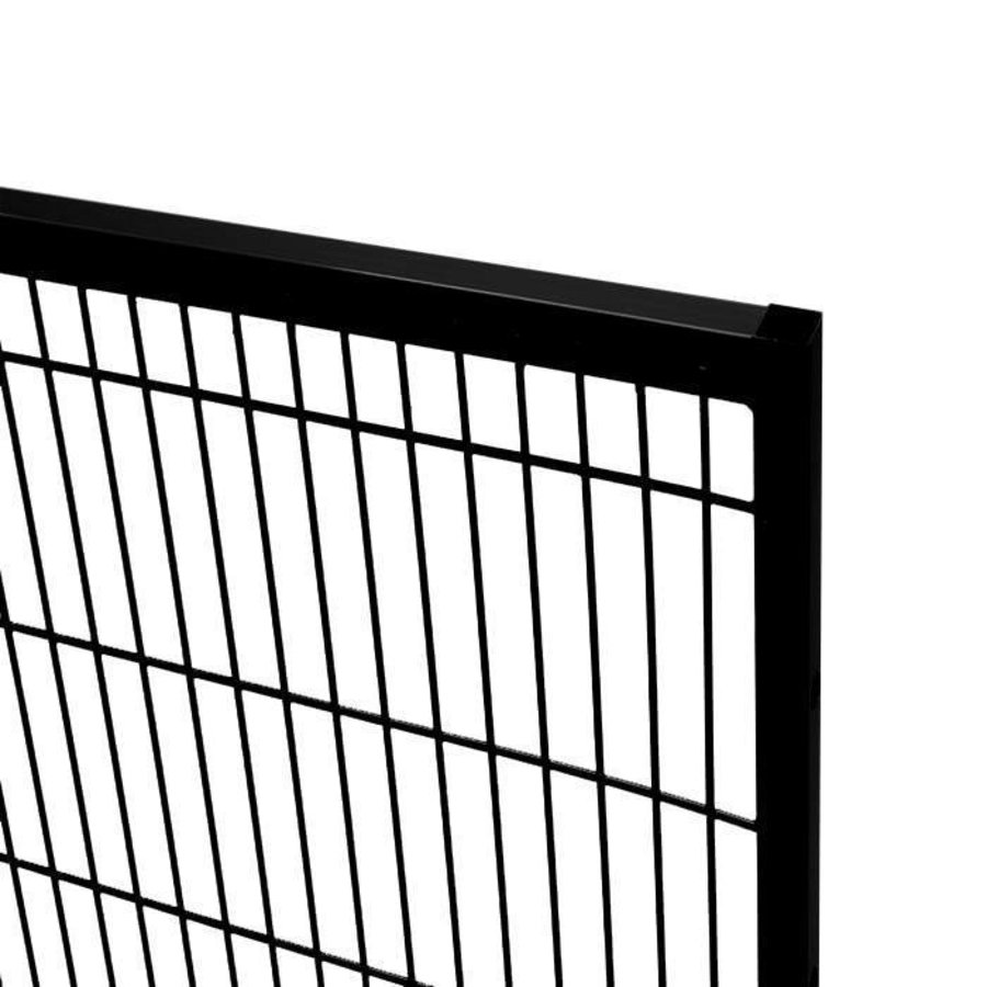 ST20 coated mesh panel 2200mm height in black (RAL 9005)