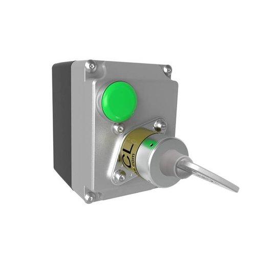 Magneetspoelvergrendelde veiligheids-sleutelschakelaar in behuizing MSSR