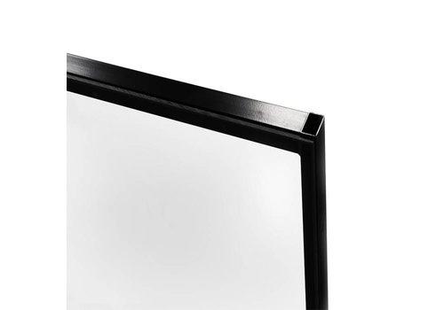 STPC polycarbonaat paneel 2200mm hoog - zwart