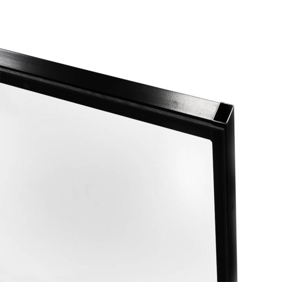 STPC polycarbonate panel 2200mm height with black coated frame (RAL 9005)
