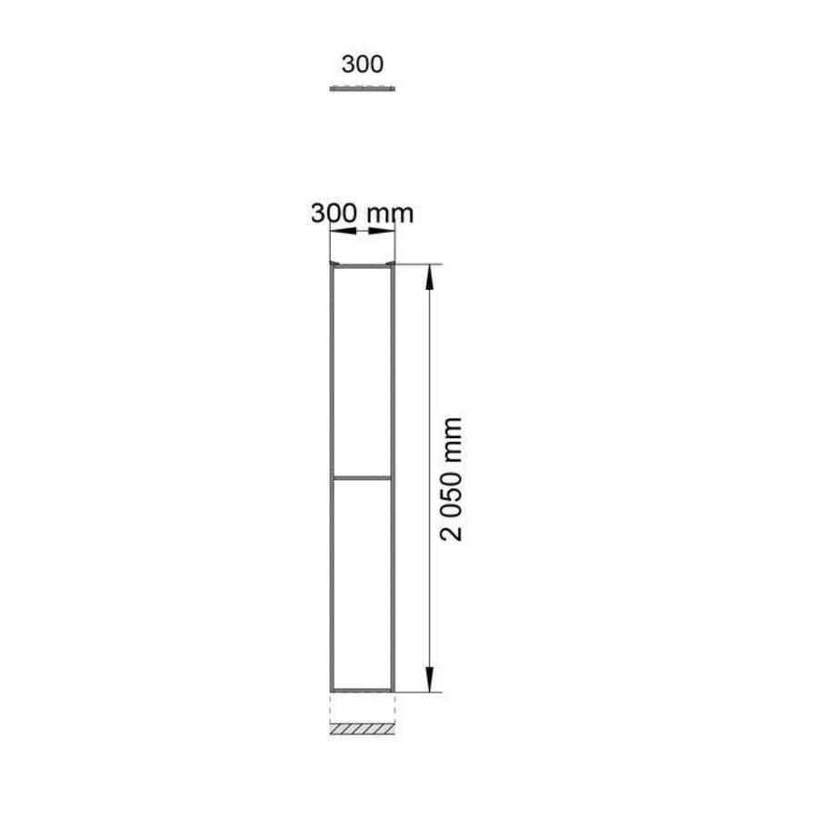 STPC Polycarbonat Element  2200mm Höhe mit  beschichteter Rahmen in schwarz (RAL 9005)