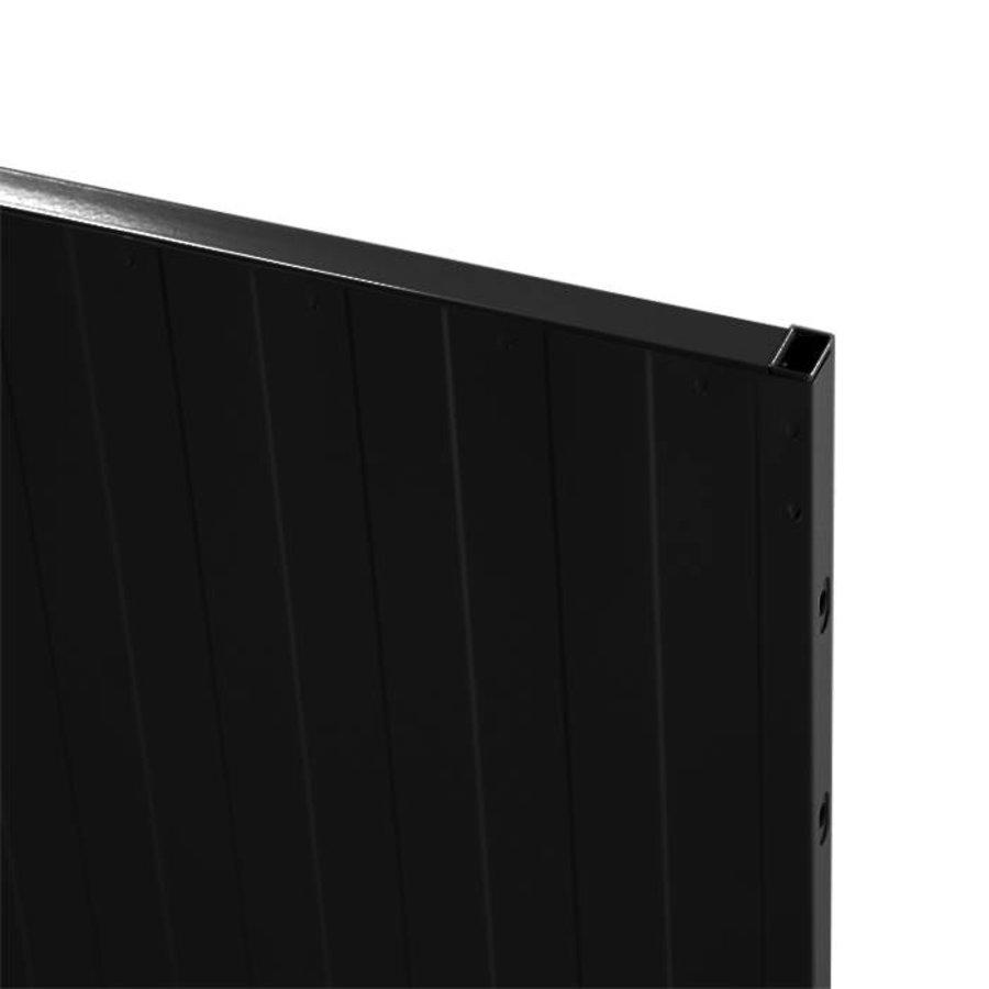 USRP volle plaat paneel 2200mm hoog  zwart gecoat (RAL 9005)